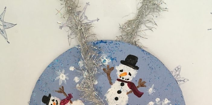 Rosie Crafts Snowman CD Christmas Painted Ornament