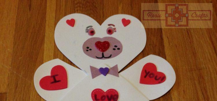 Rosie Crafts Valentine Bear Foam Kids Craft