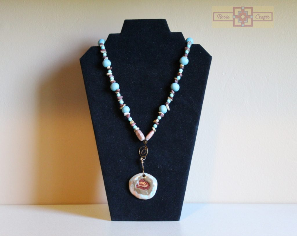 Artisan Tribes Polymer Clay Cowboy Hat Necklace